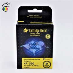 CW HP 300 Couleur  Cartouche d'encre 3 couleurs Premium Remanufacturée Cartridge World