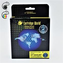 CW HP 300XL Pack de 2 cartouches d'encre  (1 Noire + 1 Couleur ) Premium Remanufacturées Cartridge World