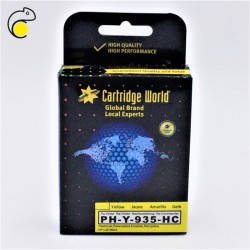CW HP 935 XL Jaune Cartouche d'encre Premium Remanufacturée Cartridge World