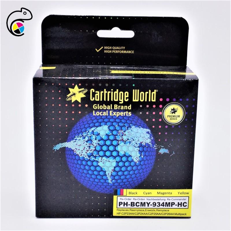 CW Pack HP  934XL/935XL Pack de 4 cartouches Premium Remanufacturées Cartridge World
