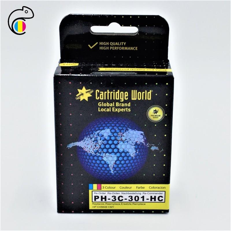 CW HP 301 XL Couleur Cartouche Premium Remanufacturée Cartridge World