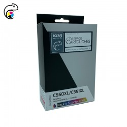 EC-C-550XL-551XL Pack de 5...