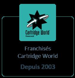 Franchisé Cartridge World depuis 2013